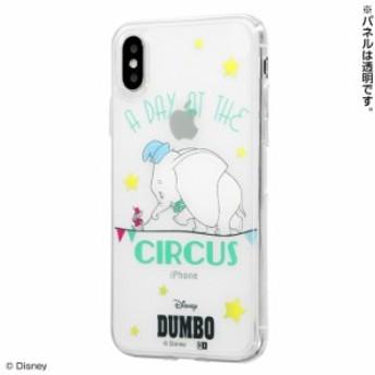 iPhone XS ケース ダンボ iPhone X カバー ディズニー キャラクター TPUケース+背面パネル ダンボ/成功の入口
