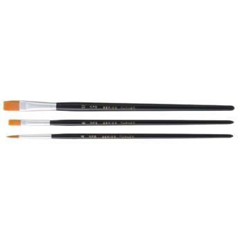 ターナー短軸ナイロン筆3本セット(平6号・平12号・丸4号)
