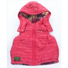 クレードスコープ kladskap ベスト リバーシブル 100cm ナルミヤ チェック/無地 ピンク系 アウター キッズ 女の子 子供服 通販 買い取り