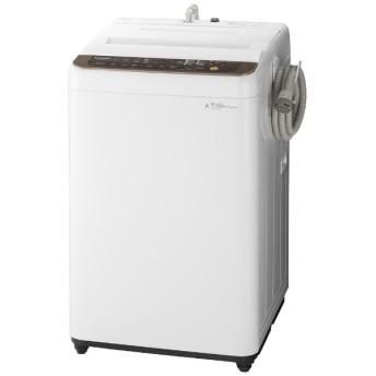 NA-F70PB12-T 全自動洗濯機 Fシリーズ ブラウン [洗濯7.0kg /乾燥機能無 /上開き]