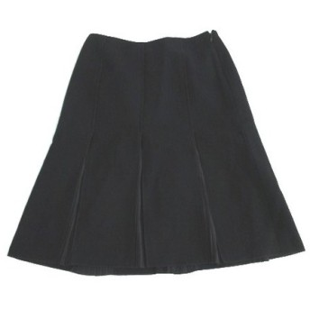 プロポーション ボディドレッシング PROPORTION BODY DRESSING ひざ丈 スカート フレアー 黒 ブラック ウール 3 レディース【中古】