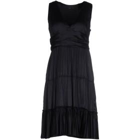 《送料無料》MAURO GRIFONI レディース ミニワンピース&ドレス ブラック 44 シルク 100%