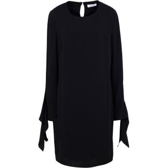 《セール開催中》CALVIN KLEIN レディース ミニワンピース&ドレス ブラック 34 ポリエステル 100% TIE CIUFF DRESS LS