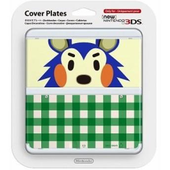 【即納★新品】3DS Newニンテンドー3DS きせかえプレート No.015 どうぶつの森・きぬよ