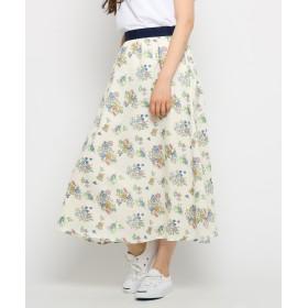 Dessin(Ladies)(デッサン(レディース)) 【洗える】ブーケプリントスカート
