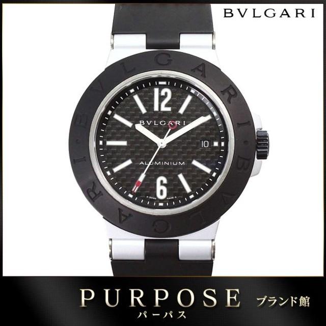 quality design c0c90 41720 ブルガリ BVLGARI アルミニウム AL44TA メンズ 腕時計 ブラック ...