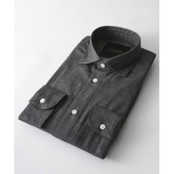 アーバンリサーチ URBAN RESEARCH Tailor インディゴショートポイントシャツ メンズ GRAY L 【URBAN RESEARCH】