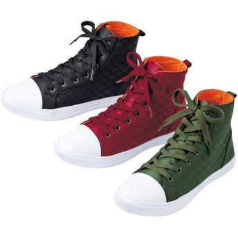 【格安-女性靴】レディース軽量ハイカットスニーカー