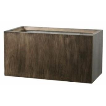 プランター 大型 植木鉢 長方形 ファイバークレイ 鉢 おしゃれ ラムダ ウッド 幅600×奥行300×高さ300 木目 木 穴あり ガーデニング 軽