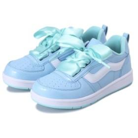 キッズ 【VANS】 ヴァンズ LENG V2003K RBN.LACE BLUE/MINT 15cm