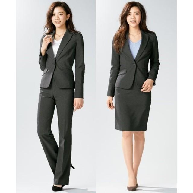 洗える3点セットスーツ(ジャケット+パンツ+タイトスカート)(股下77cm) 【レディーススーツ】通勤・社会人・リクルートスーツ,women's suits