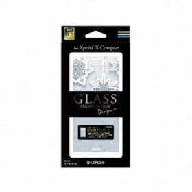 【LEPLUS】Xperia X Compact ガラスフィルム 「GLASS PREMIUM FILM」 全画面保護 Design +(プラス) Winter スノー02