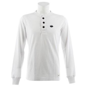 エルケクス(ELKEX) 32/2 長袖Tシャツ ヘンリー 863EK8CD2724WHT (Men's)