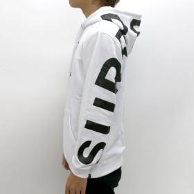 パーカー - MARUKAWA B ONE SOUL パーカー メンズ 秋 裏起毛 BIG ロゴ プリント ホワイト/レッド M/L/XL【 スウェット スエットプルオーバー プルパーカー ストリート カジュアル】