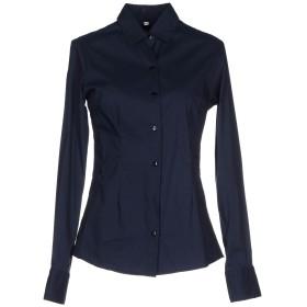 《期間限定セール開催中!》AUTHENTIC CLOTHING COMPANY レディース シャツ ダークブルー 46 コットン 72% / ナイロン 24% / ポリウレタン 4%