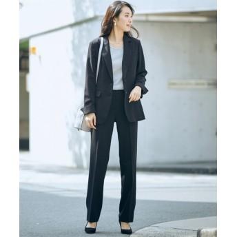 トールサイズ ストレッチ蓄熱裏地付洗えるすごく伸びるロング丈ジャケットスーツ(股下86cm) 【高身長・長身】オフィススーツ,tall