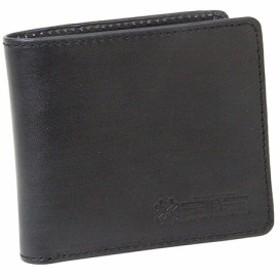 SK11 SPIDER手塗り札入れ(二折財布) SPD-FW-ブラック カラー:ブラック