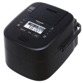 パナソニック(家電) スチーム&可変圧力IHジャー炊飯器 1.0L (ブラック)【配達日時指定不可】