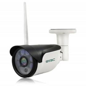 SV3C 1080P 200万画素 WI-FI 防犯カメラ ワイヤレス屋外/屋内 ネットワークカメラ IPカメラ 動体検知機能 暗視撮影 IP66防水 防塵 マイクロ SDカード対応 ios/a