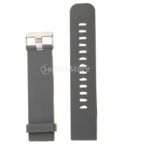 交換用ウォッチバンド 腕時計バンド ソフト シリコン 防水 スポーツ アウトドアなどに  多種類選べる - グレー22mm