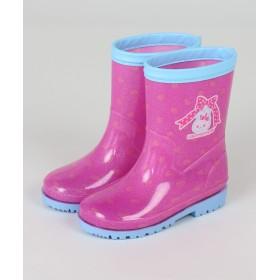 【オンワード】 Mother garden(マザーガーデン) うさももちゃん レインシューズ 長靴(リボン柄) ピンク(淡) はきもの14cm キッズ