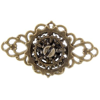 ギア リング パンク 指輪 ユニセックス 調節可能 個性 贈り物 ゴールド