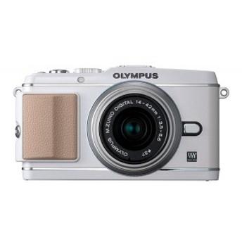 【中古 保証付 送料無料】OLYMPUS PEN E-P3 レンズキット ホワイト / デジタルカメラ / ミラーレス一眼/一眼レフカメラ/初心者