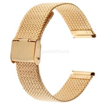 高級 ユニセックス 腕時計 バンド 時計修理 交換用品 手首に合わせ 耐久 20mm 全4サイズ - ゴールド