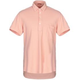 《セール開催中》BARENA メンズ ポロシャツ サーモンピンク XXL コットン 100%