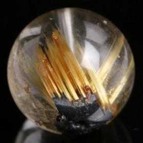 太陽放射ルチルクォーツ ビーズ 23.2mm #FG003G