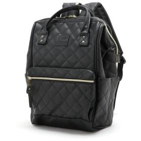 バッグ カバン 鞄 レディース リュック キルティング口金リュック カラー 「ブラック」
