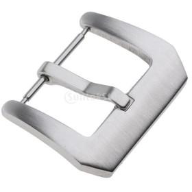 ブラシ付き ステンレススチール ウォッチバンドバックル 留め金 尾錠 全5サイズ シンプル 光沢  - 銀, 24mm