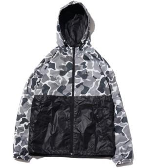 アディダス adidas ジャケット グラフィックリバーシブルウインドブレーカー (マルチカラー/ブラック) 18FW-I