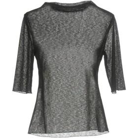 《期間限定セール開催中!》WEILI ZHENG レディース T シャツ ブラック XS ポリエステル 100%