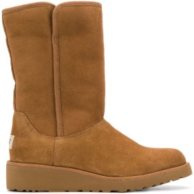 Ugg Australia low heel shearling boots - ブラウン