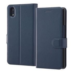 au Qua phone QZ 手帳型ケース シンプル マグネット ダークネイビー RT-QPQZELC1/DN (1コ入)