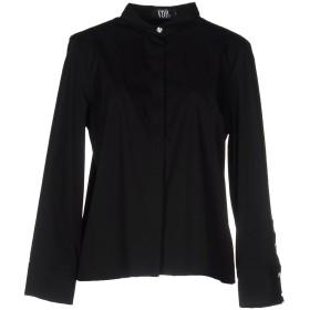 《セール開催中》VDP COLLECTION レディース シャツ ブラック 44 コットン 78% / ナイロン 17% / ポリウレタン 5%