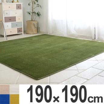 ■在庫限り・入荷なし■ ラグ ラグマット 洗える フランネルラインラグマット 190x190cm ( カーペット ウォッシャブル 絨毯 )