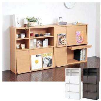 ■在庫限り・入荷なし■本棚 フラップ書棚2個組み ( ディスプレイラック 縦横組み替え )