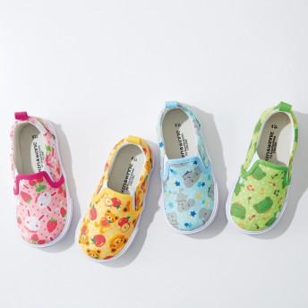 【格安-子供用靴】キッズアニマル柄スリッポンスニーカー
