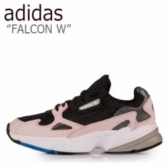 アディダス スニーカー adidas レディース FALCON W ファルコン ウーマン BLACK BLACK PINK ブラック ブラック ピンク B28126 シューズ