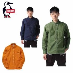 チャムス CHUMS 長袖シャツ メンズ Garment Dyed OX Shirt ガーメントダイオックスシャツ トップス シャツ CH02-1089