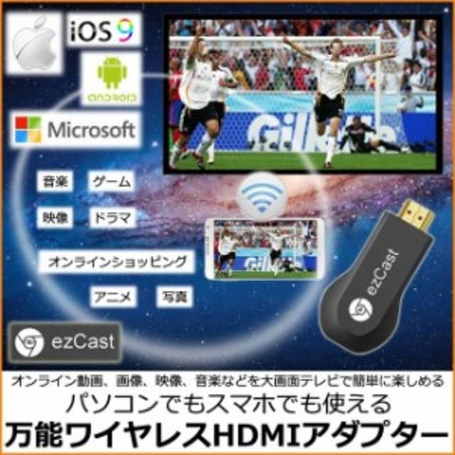 無線HDMIアダプター・EZCast Wireless HDMI ストリーミング メディア プレーヤー iOS&Android&Windows&
