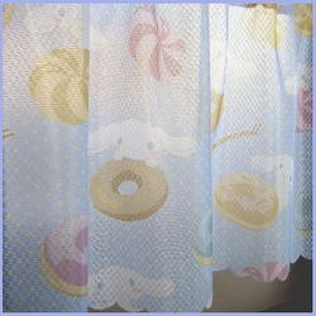 【 カフェカーテン 145×50cm 】 サンリオ シナモロール ミレーレース  [Sanrio キャラクター かわいい シナモンロール おしゃれ]