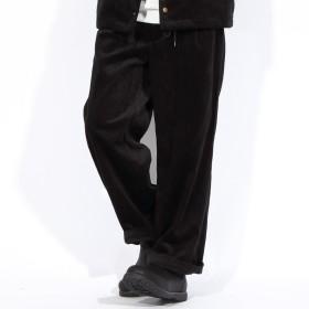バギーパンツ - 8(eight) ワイドパンツ メンズ サルエルパンツ全3色 新作 ワイドパンツサルエル パンツ ワイド 太め コーデュロイブラック ベージュ ブラウン 黒ストリート系 アメカジ系 に大人気!8(eight) エイト 8
