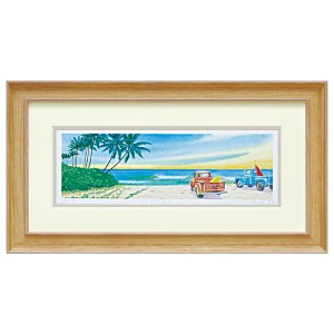 「朝の海へ」 ジクレー版画 くりのき はるみ 【送料無料】 KH-10133 ユーパワー