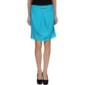 《セール開催中》FRANKIE MORELLO レディース ひざ丈スカート ターコイズブルー 42 シルク 96% / ポリウレタン 4%