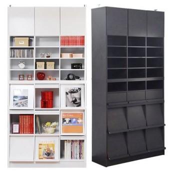■在庫限り・入荷なし■本棚 ディスプレイラック 3列フルセット CDフラップ ( シェルフ 書棚 )