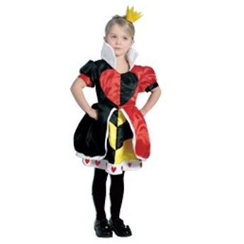 ルービーズ社 ハートの女王(ヘッドピース付き) コスチューム 子供 子ども用コスチューム コスプレ 衣装 ハロウィン  ≪返品交換不可≫
