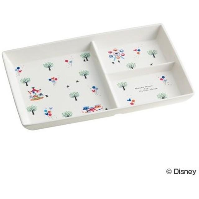 ■在庫限り・入荷なし■モーニングプレート ミッキーマウス ファンタジー 食器 子供用 メラミン製 キャラクター ( ランチプレート ランチ皿 お皿 )